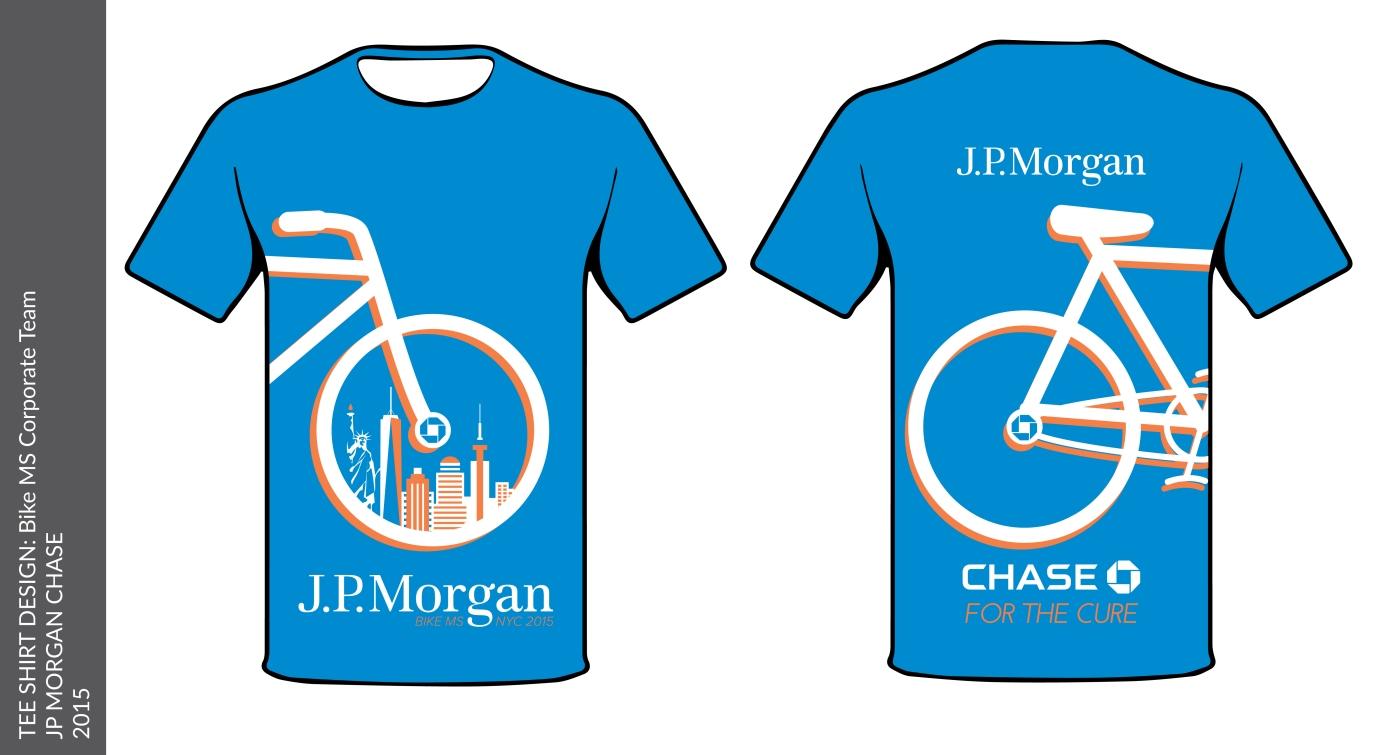 Jp Morgan Bike Ms Tee Shirt 2015 Julie Munn